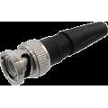 Кабельный разъем BNC для видеонаблюдения  под винт (прямой)