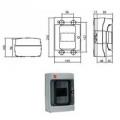 Щиток с дверцей 4 Настенный распределительный модульный щиток IP65