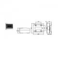 Щиток  с дверцей  8 Настенный распределительный модульный щиток IP41