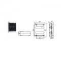 Щиток  с дверцей 24 Настенный распределительный модульный щиток IP41