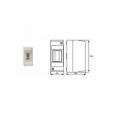 Щиток без дверцы на 1-2 мод IP 20 (82002) Настенный распределительный модульный щиток IP20