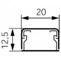Короб 20x12,5 Мини-плинтус (кабель канал) DLPlus 20x12,5 одноканальный