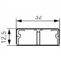 Короб 32x12,5 (2к) Мини-плинтус (кабель канал) DLPlus 32x12,5 (2к) двухканальный