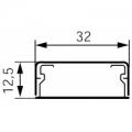 Короб 32x12,5 (1к) Мини-плинтус (кабель канал) DLPlus 32x12,5 (1к) одноканальный
