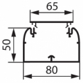 Короб 80x50 Кабель-канал DLP 80x50 мм одноканальный с гибкой крышкой 65 мм