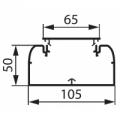 Короб 105x50 Кабель-канал DLP 105x50 мм  одноканальный с гибкой крышкой 65 мм
