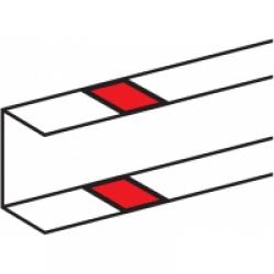 Накладка на стык профиля 105x50 Накладка на стык профиля для короба (кабель-канала) 105х50
