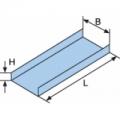 Лоток ДКС-35020 Лоток металлический неперфорированный, основание 50 мм, высота 50 мм, длина 3000 мм