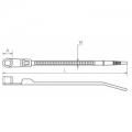 Стяжка 100x2,5 мм с отверстием Кабельная стяжка (хомут) нейлоновая, с крепежным отверстием