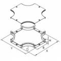 Ответвитель ДКС-36184 Ответвитель для лотка DPX крестобразный 200х50