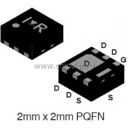 IRFHS9301TR2PBF,Pкан -30В -8.5А  PQFN2x2