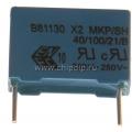 B81130-C1104-M, 0.1 мкФ, 275В, X2, Конденсатор подавления ЭМП